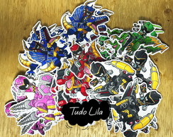Aplique para tubete power rangers dino charge