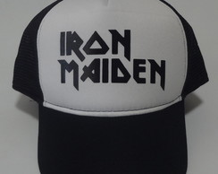 Boné iron maiden heavy metal trucker cap