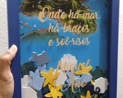 Quadro de assinaturas/Keep Calm Fundo do mar