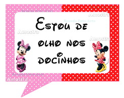 Placa divertida para festas Minnie Mouse