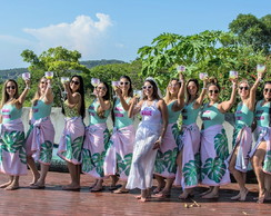 Canga Personalizada Team Bride (Beach Party)