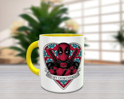 Caneca Colorida Personalizada Deadpool