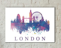 Placa Decorativa Londres (Sala ou Quarto) - A4