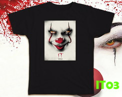 "CAMISETAS ""IT"" - PRETA - BABY LOOK OU TRADICIONAL"