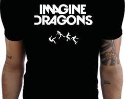 Camiseta Preta Imagine Dragons