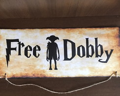 Placa Harry Potter Free Dobby