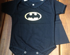 Body Batman Preto com Capa