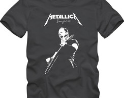 Camiseta Banda Metallica James Hetfield Camisa Rock Jaymz