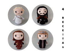 Pack com 4 Receitas Amigurumi Game of Thrones