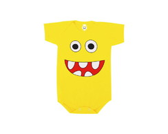 Body OU Camiseta INFANTIL Monstrinho Dentinhos