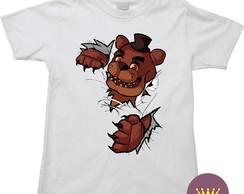 Camiseta Infantil Fnaf Five Nights At Freddy's Nightmare 01