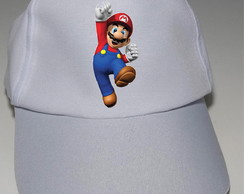 Boné Personalizado do Mario Bros