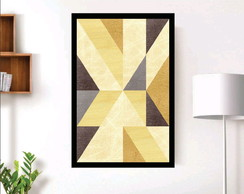 quadro decorativo abstrato moldura