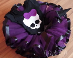 saia de tutu Monster High + body + tiara Infantil