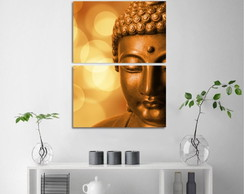 Quadro decorativo Buda Lights Vertical Para Sala Corredor