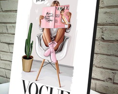 Quadro Decorativo A4 Vogue