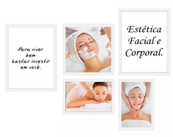 Quadro Decorativo Estética Facial E Corporal Massagem Spa