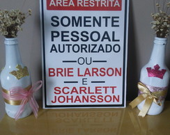 Placa decorativa área restrita