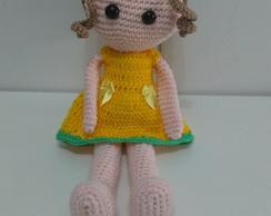 Boneca Malu Amigurumi • Círculo S/A | Háčkovaná panenka, Háčkování ... | 194x244