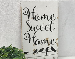 Porta Chaves Chaveiro Decor Parede Pátina Home Sweet Home