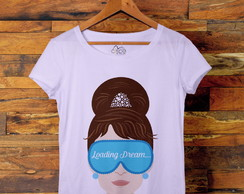 Camiseta t-shirt feminina Audrey Loading Dream