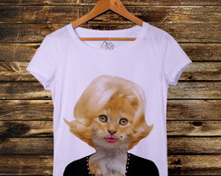 Camiseta t-shirt feminina Marilyn Cat