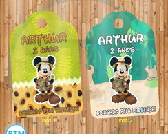 Tag Agradecimento - Mickey Safari