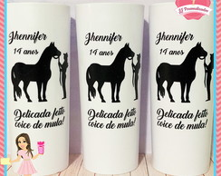 Copo Long Drink Lembrancinha Personalizada Amazona Cowgirl