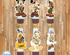 Aplique Tubete - Turma Mickey Safari