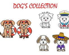 Kit Scrapbook cliparts elementos cute dogs 2