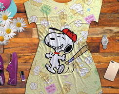 Dress Shirt feminina estampa Snoopy