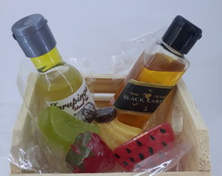 Kit Lavabo Frutas + Mini Sabonete Black Label Artesanal
