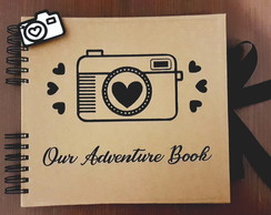 Álbum de Fotos e Scrapbooking Our Adventure Book - 25 folhas