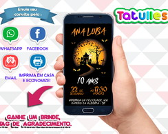 Convite Halloween Digital Para Whatsapp