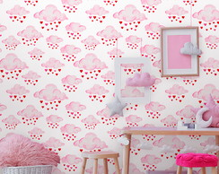 Papel de Parede Baby Cloud Heart Cute