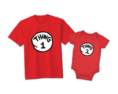 Kit Irmãos Thing 1 e Thing 2