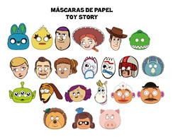 Máscaras Toy Story 4