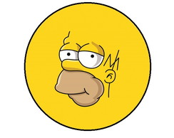 Button personalizado SIMPSONS