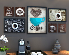 Conjunto 7 Quadros - Coffee
