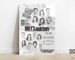 Quadro decorativo placa mdf Grey's Anatomy D068