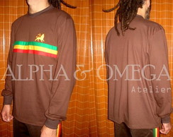 Camiseta Reggae Roots MARROM (mg. longa)