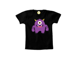 Camiseta INFANTIL OU Body Monstrinho fofo Halloween