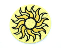Patch Bordado Termocolante Sol DPA Detetives do Prédio Azul