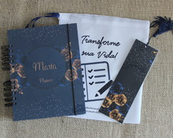 Planner - Life Planner 2020 - Capa Azul Floral