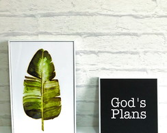 Conjunto 2 Quadro Decorativo Planta Decor Tumblr