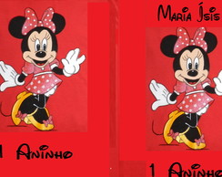 MINNIE e ou MICKEY c/nome e idade -kit com 4 camisetas