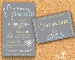 Convite + Save The Date Batismo- digital