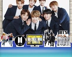 Kit Festa Prata Painel + Display BTS Bangtan Boys