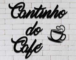 Cantinho do café cafe mdf + brinde