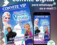 Convite Digital p/ Envio via Whatsapp (Frozen)
